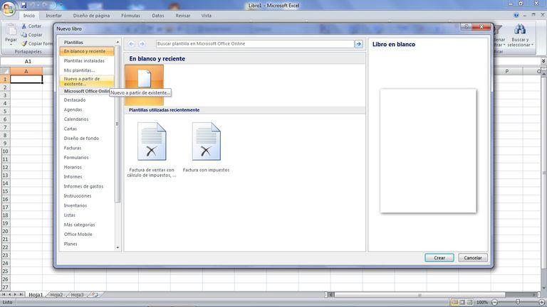 Abrir libor Excel