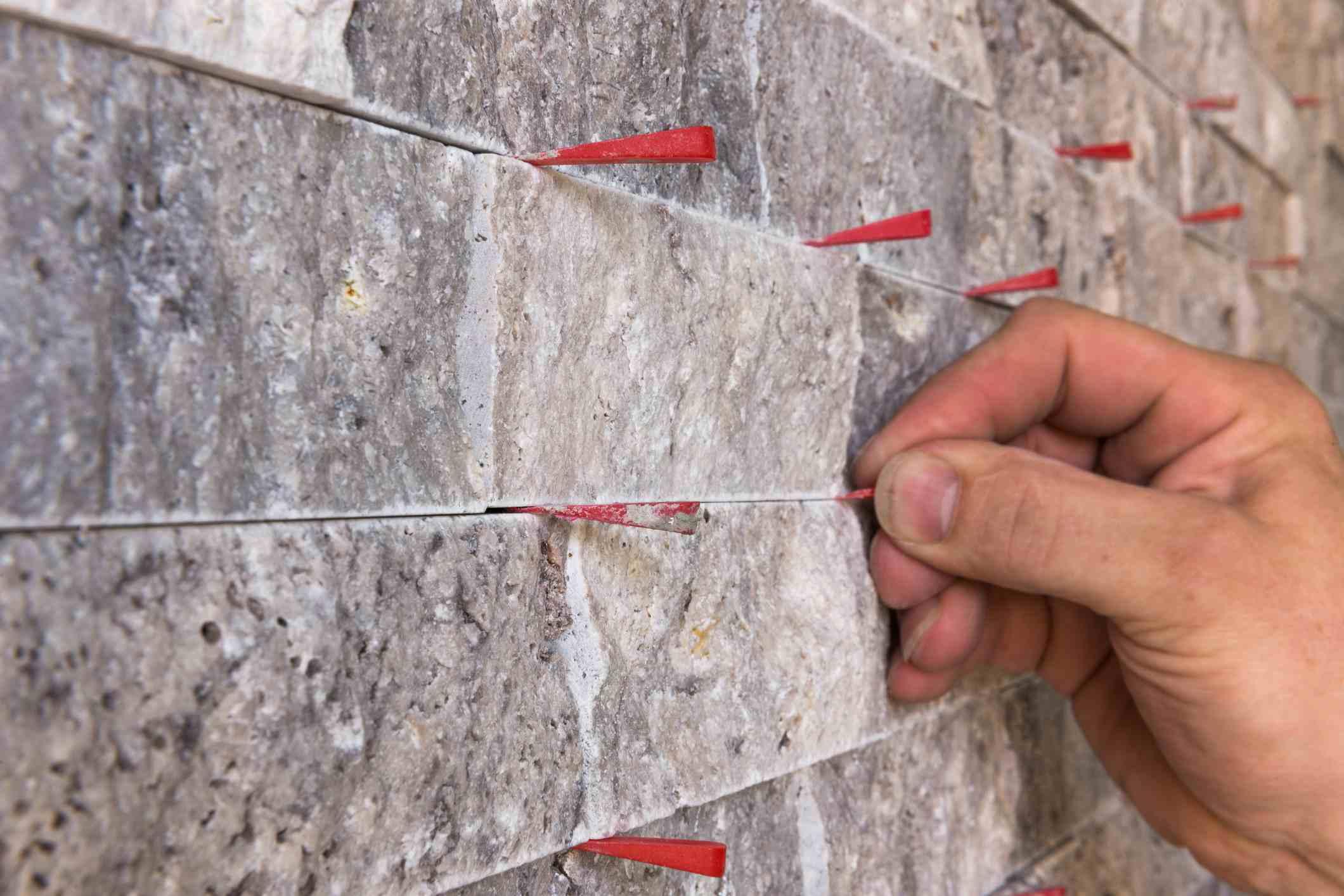Pared de piedra caliza