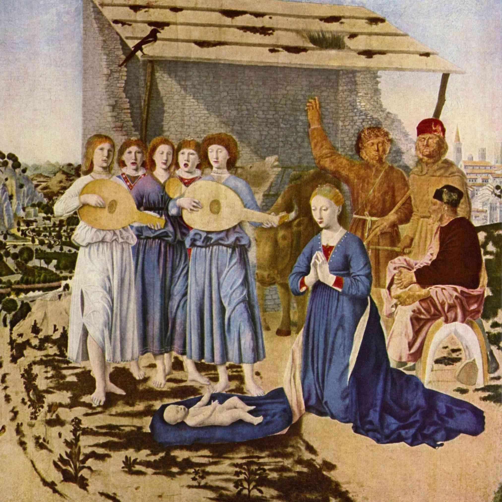 Natividad por Piero della Francesca