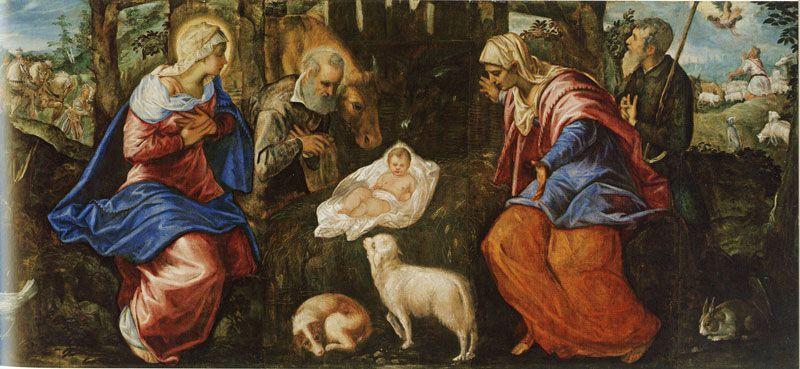 Nacimiento de Jesús de Tintoretto
