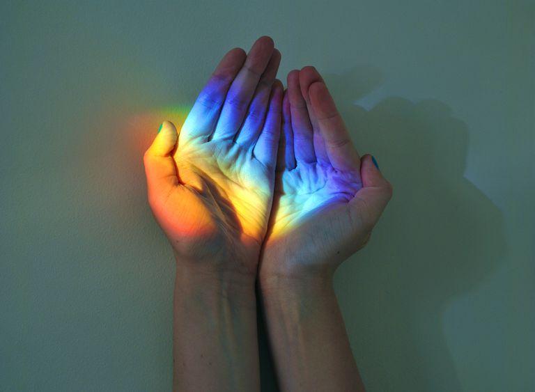 Representación de un arcoiris