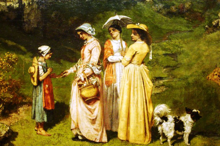 Young Ladies of the Village, de Gustave Courbet