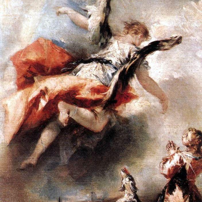 El arcángel Rafael se le aparece a Tobías