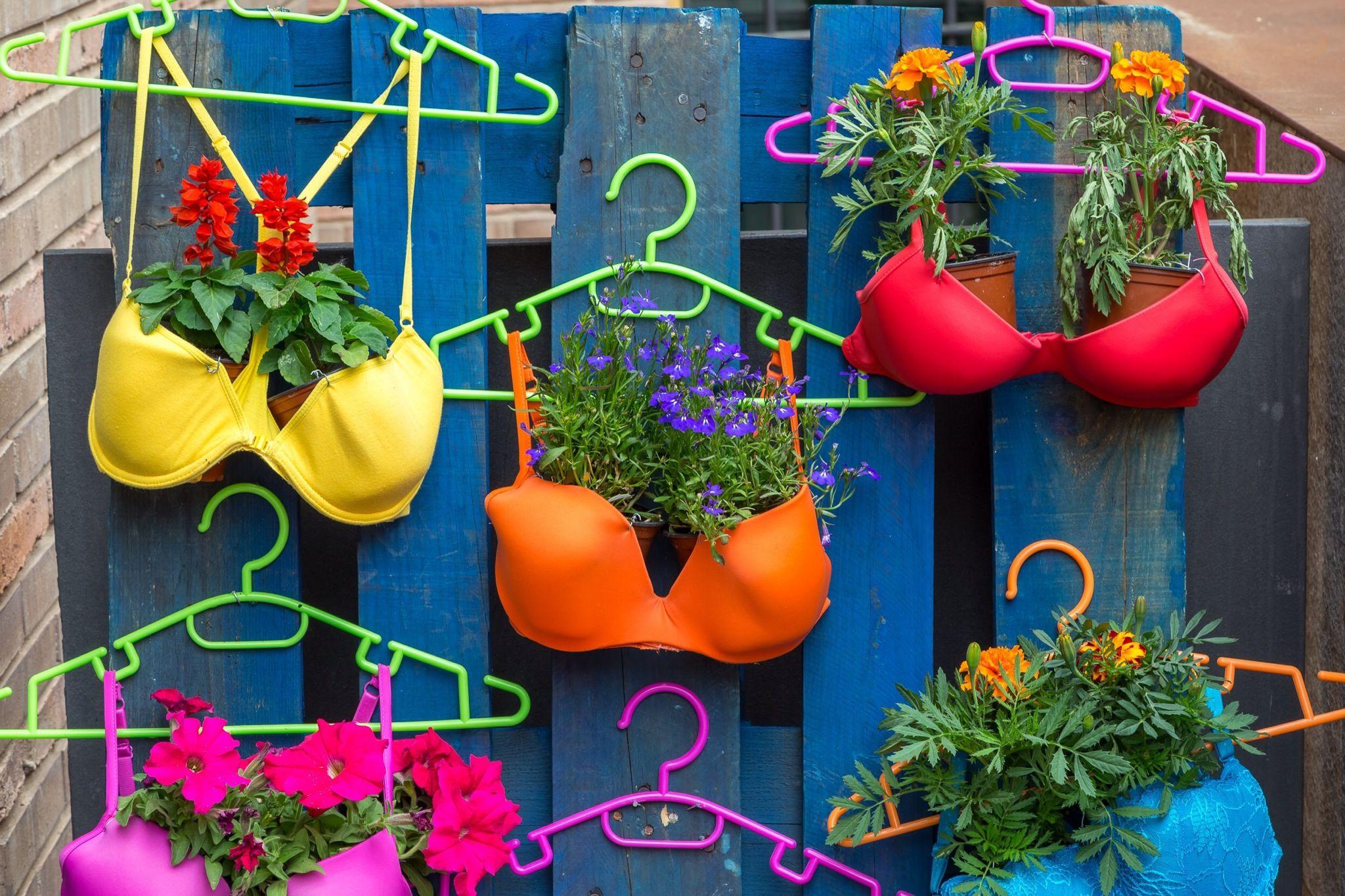 Jardines creativos 12 objetos reciclados convertidos en for Ideas para jardin reciclado