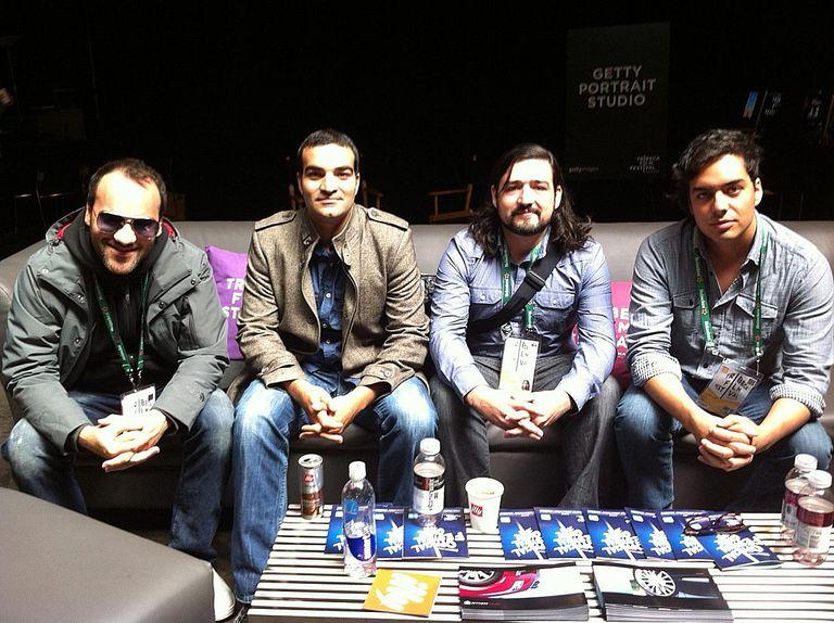 Pascui Rivas, Martín Rosete, Juan Camilo González y León Rechy en el Festival de Tribeca.