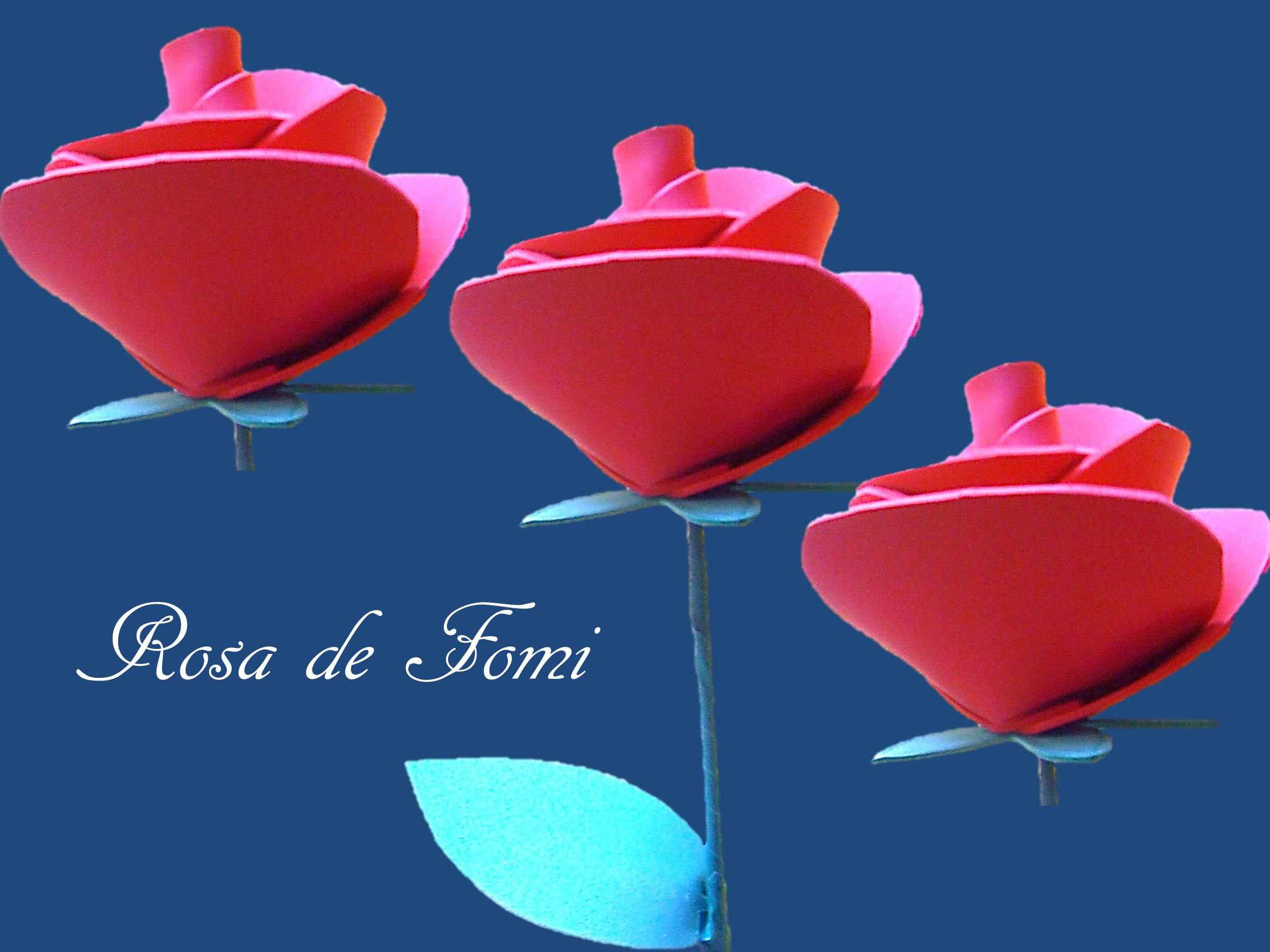 0e79139bc67 Como hacer una rosa de fomi con los niños.