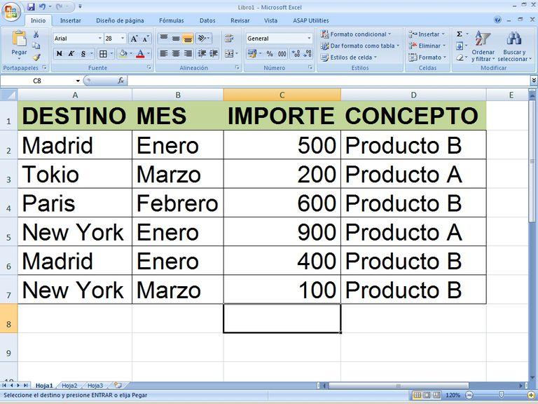 Buscar y reemplazar datos en Excel