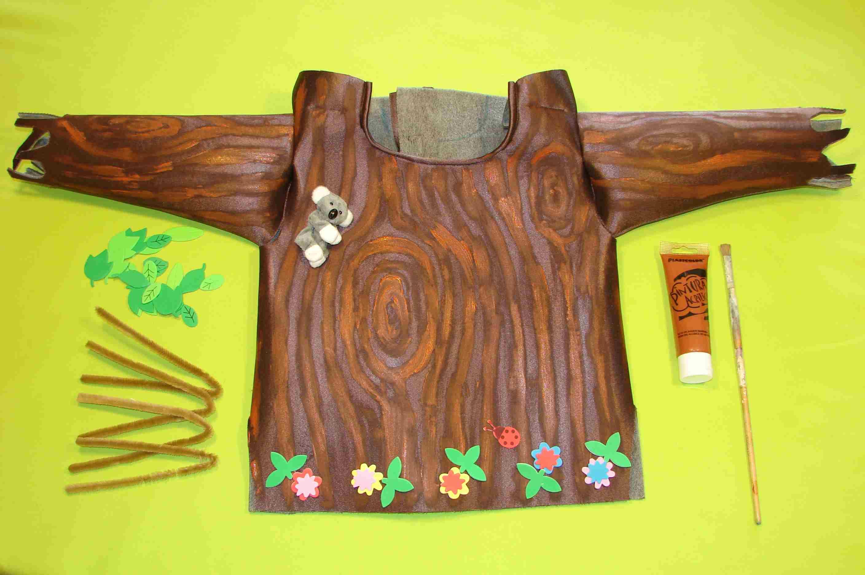 Pintar disfraz de árbol