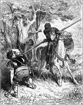 """Illustration 3 for Miguel de Cervantes's """"Don Quixote"""" by Gustave Doré, 1863"""