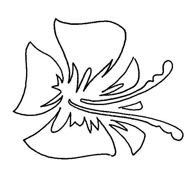 Plantilla flor sin tallo para estarcido