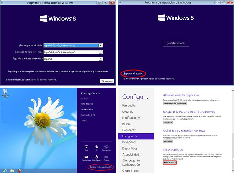Reparar Windows 8