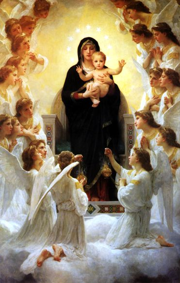 La Virgen con ángeles por William-Adolphe Bouguereau