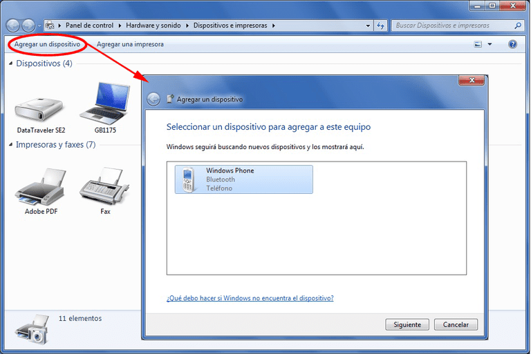 Bluetooth-Windows7