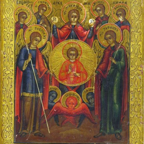 Ícono ortodoxo de los 7 arcángeles