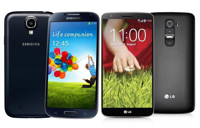 Samsung Galaxy S4 y LG G2