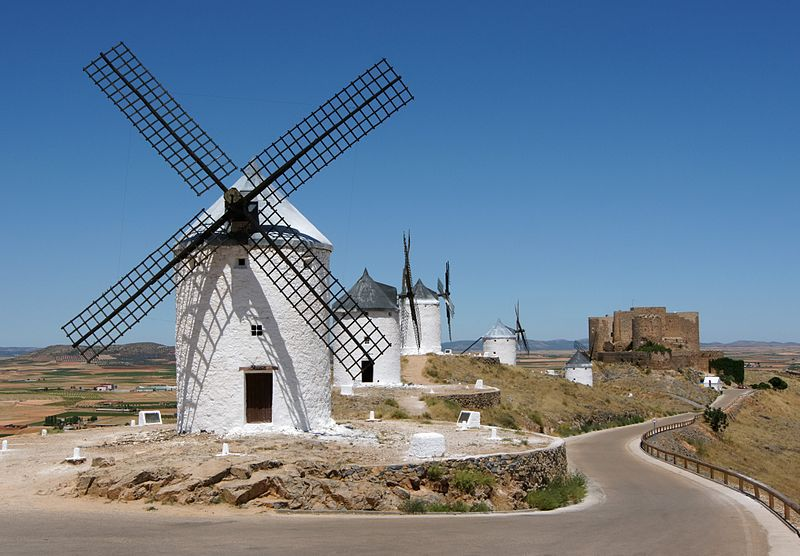 Molino de eje horizontal, La Mancha, España