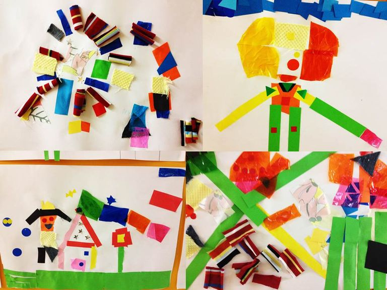collage niños