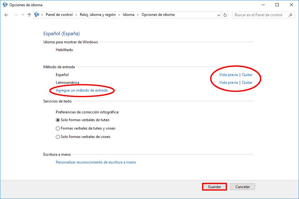 configurar teclado espanol mexico windows 7