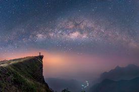 Vía Láctea sobre las montañas
