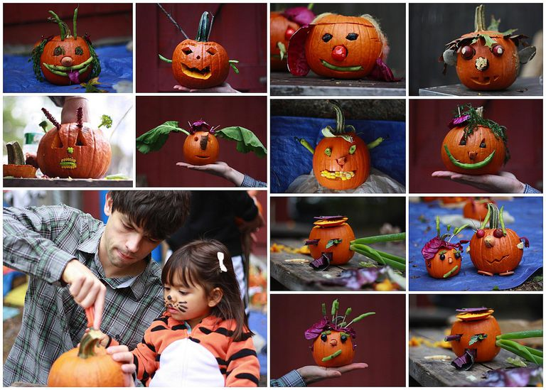 11 calabazas de halloween decoradas con vegetales
