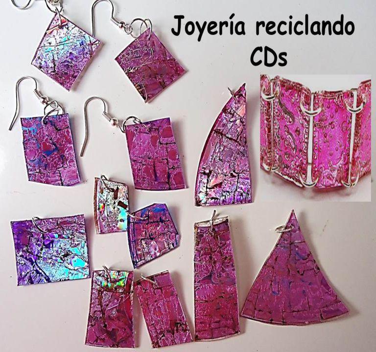 4a35001f0bdd Te decimos cómo hacer joyería o bisutería reciclando CDs.