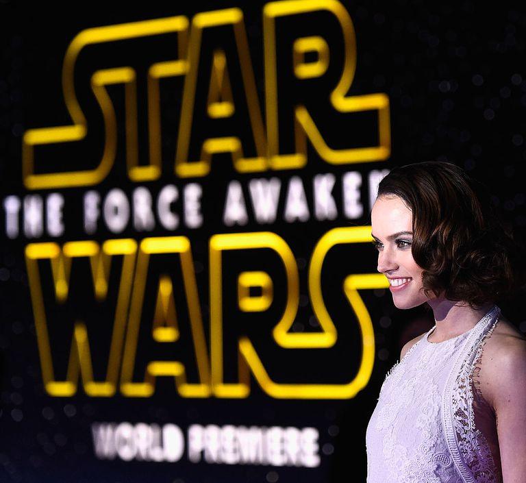 La actriz Daisy Ridley durante el estreno mundial de 'Star Wars. El despertar de la fuerza'