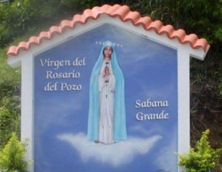 Entrada al pozo de la Virgen en Sabana Grande Puerto Rico