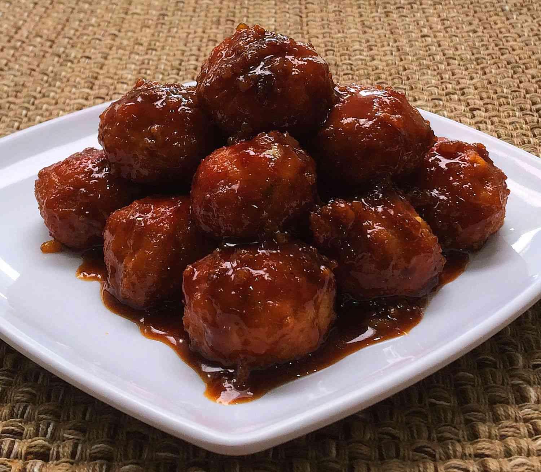 Albóndigas agridulces de carne y jamón