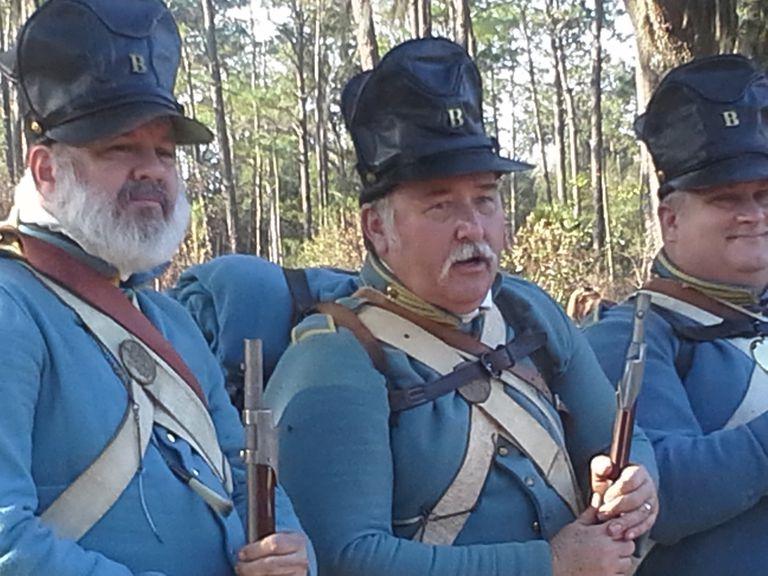 Dramatización de una batalla contra los seinoles en Florida