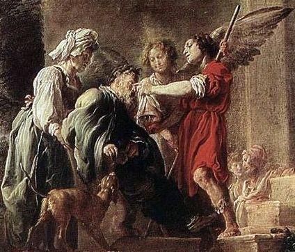 La curación de Tobías por Domenico Feti