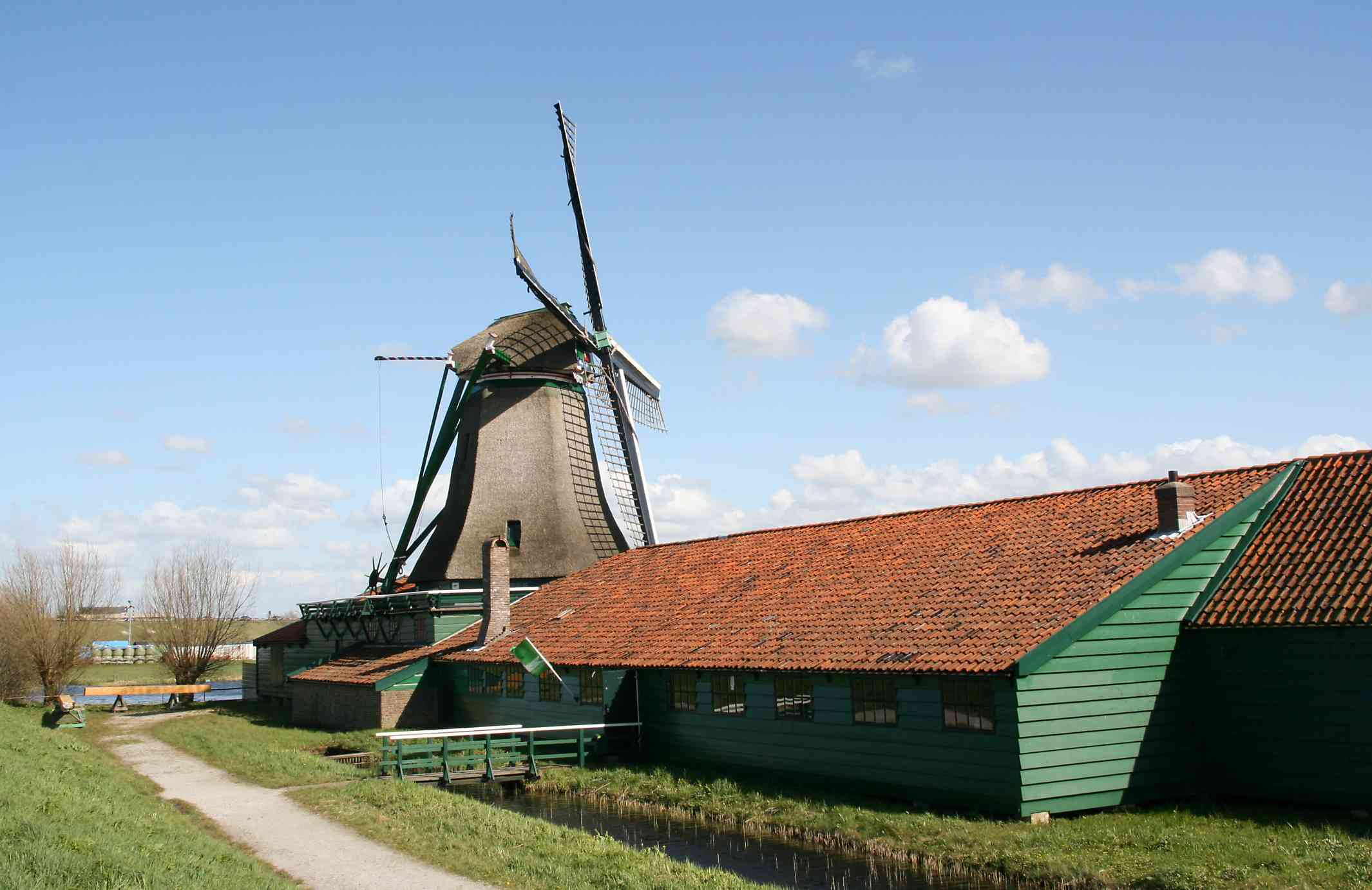 Wind-powered paper mill
