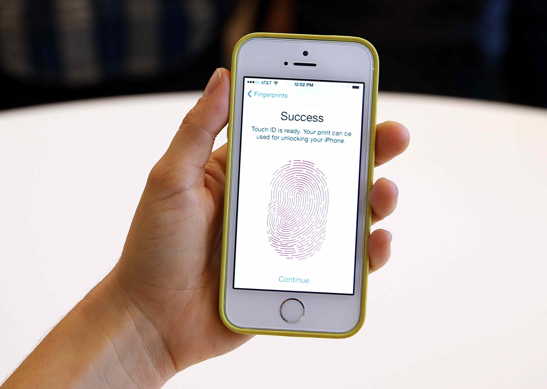 iPhone 5S lector de huellas