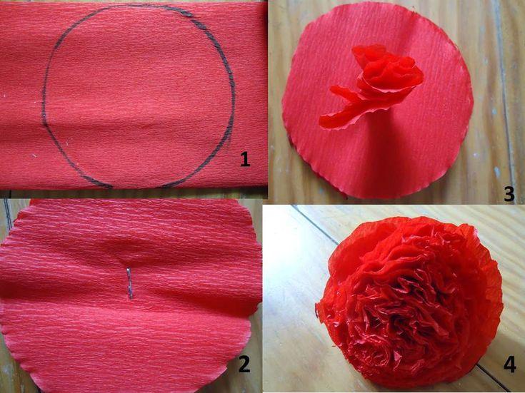 Como Hacer Flores Cempasuchil Para El Dia De Muertos - Flores-de-papel-crepe