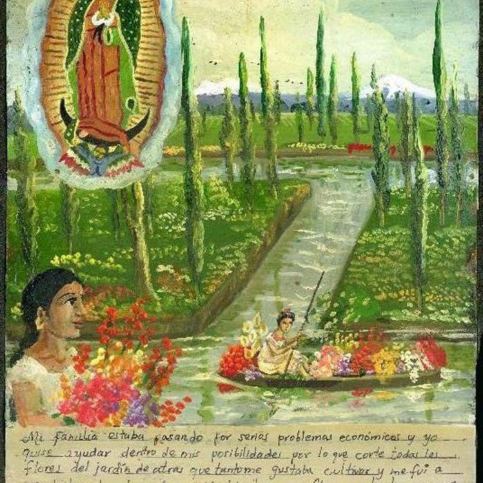 Exvoto a la Virgen de Guadalupe en Xochimilco