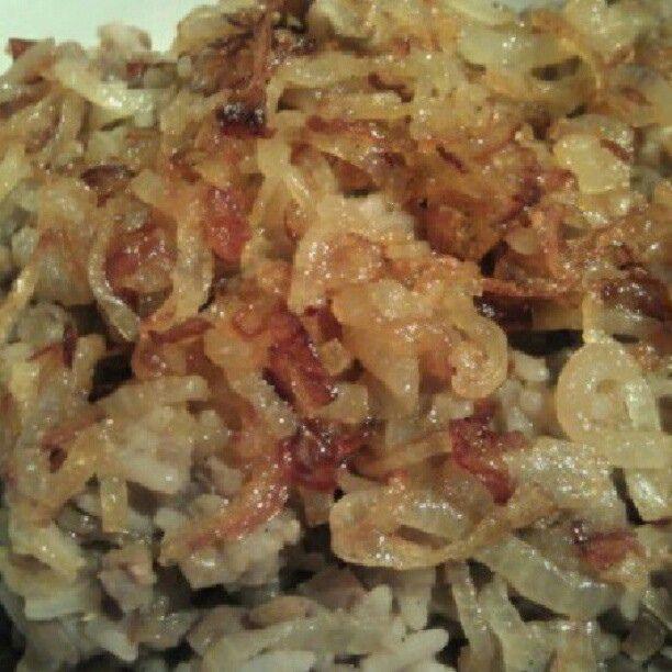 arroz con cebolla