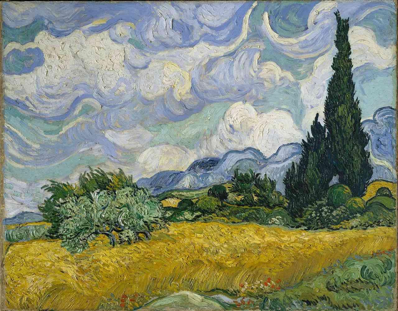 Vincent van Gogh, Campo trigo cipreses