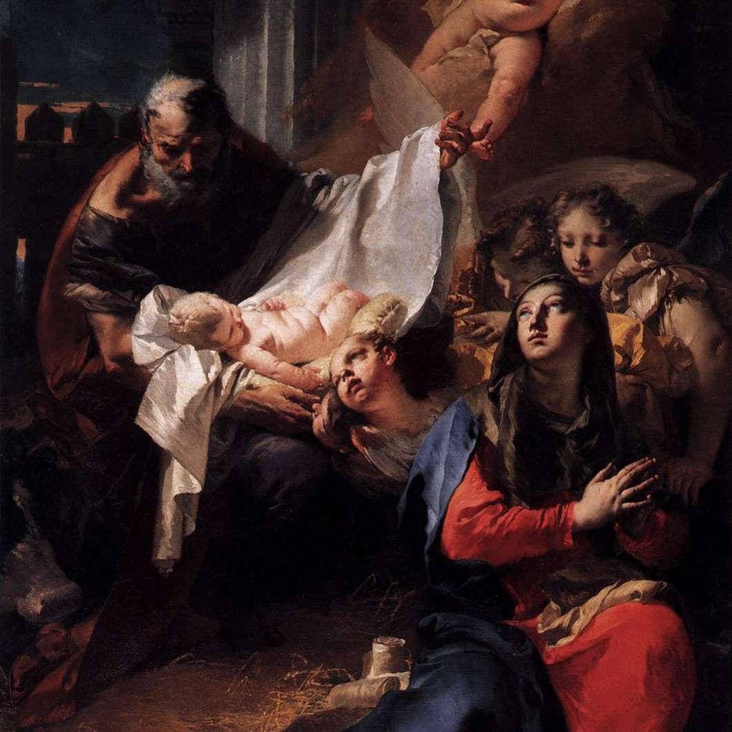 Natividad (1732), Giovanni Battista Tiepolo. Óleo sobre lienzo.