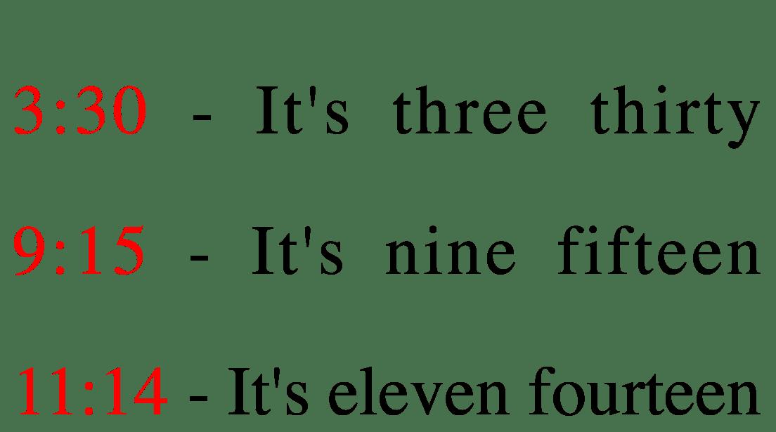 Modo simple para decir la hora
