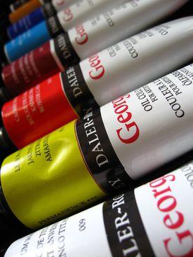 Tubos de pintura al óleo