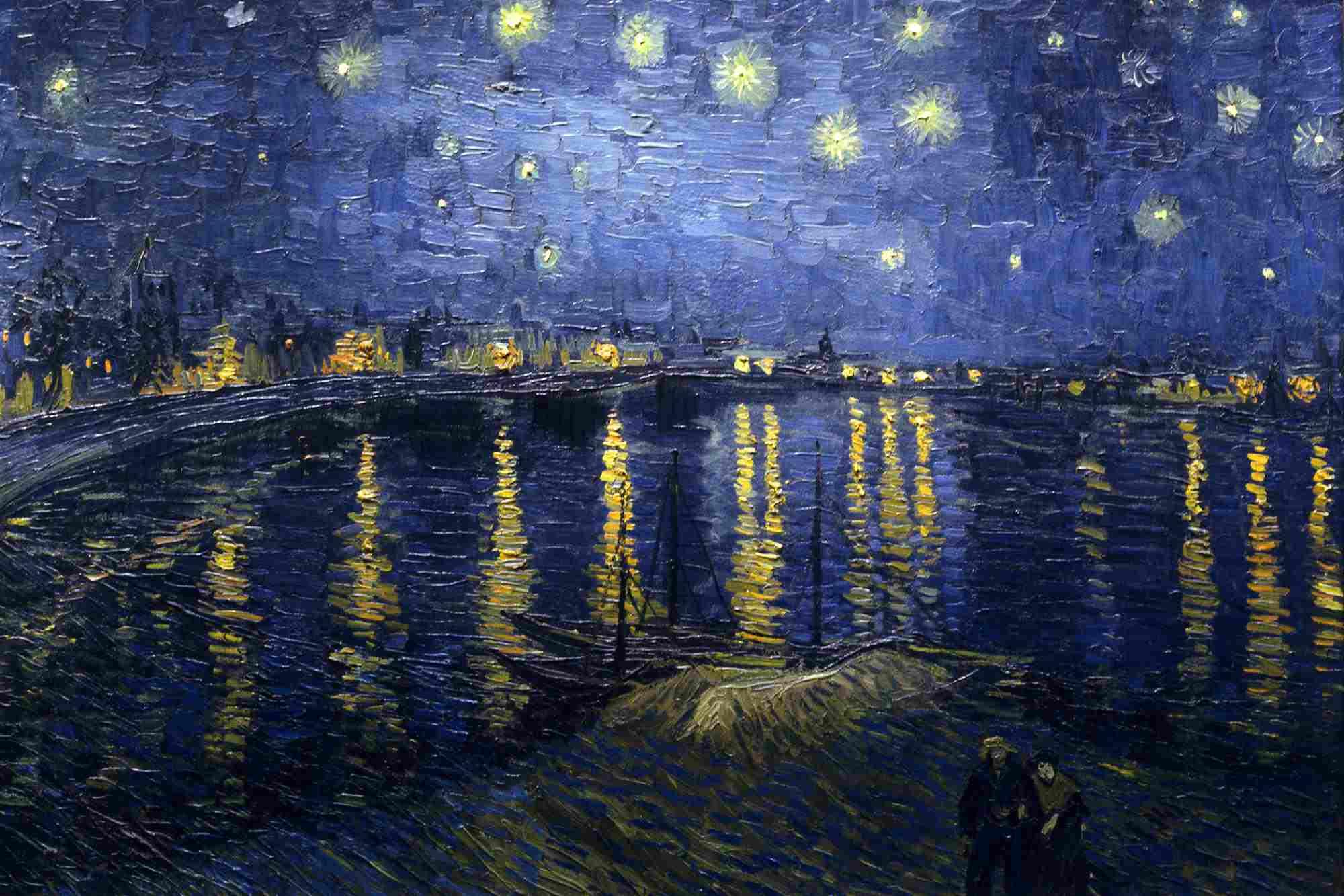 Vincent van Gogh, Noche estrellada sobre el Ródano