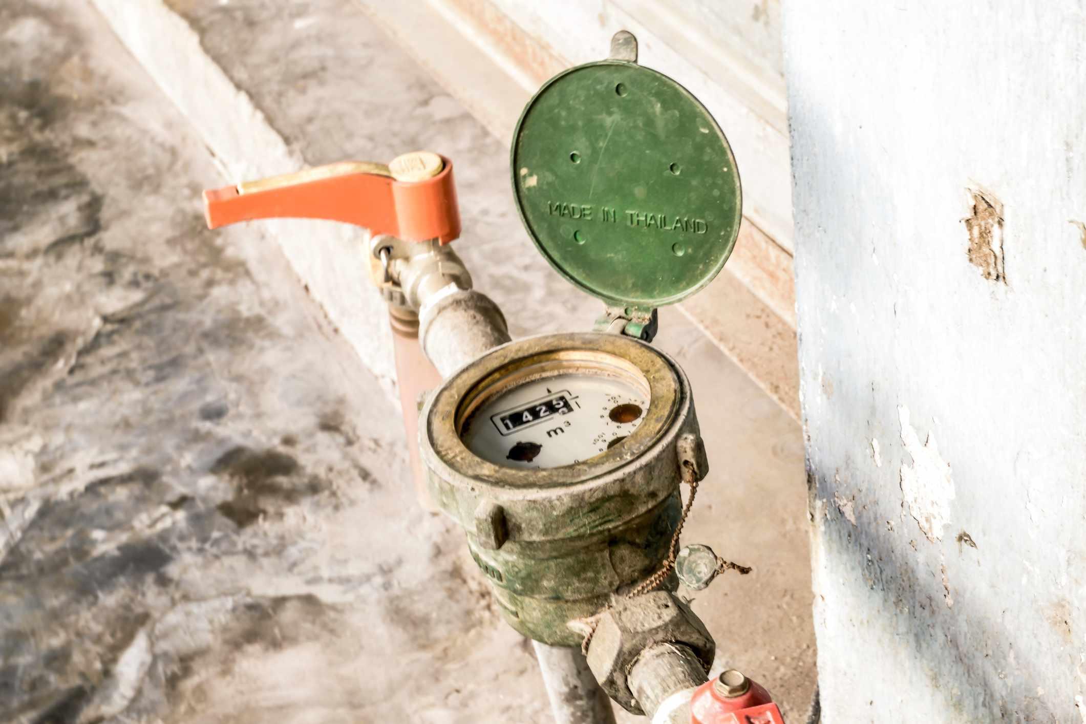 Valvula y medidor de agua