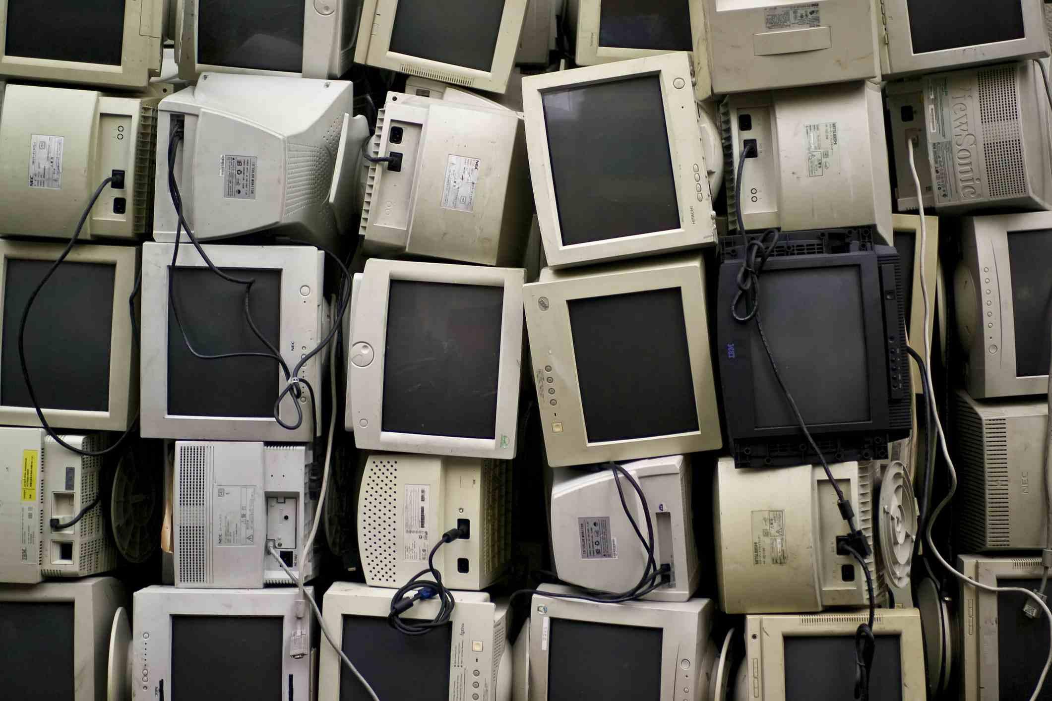 Viejos monitores de computadora