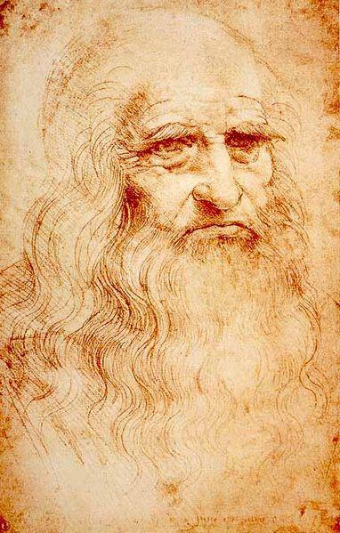 Leonardo da Vinci, dibujo autorretrato
