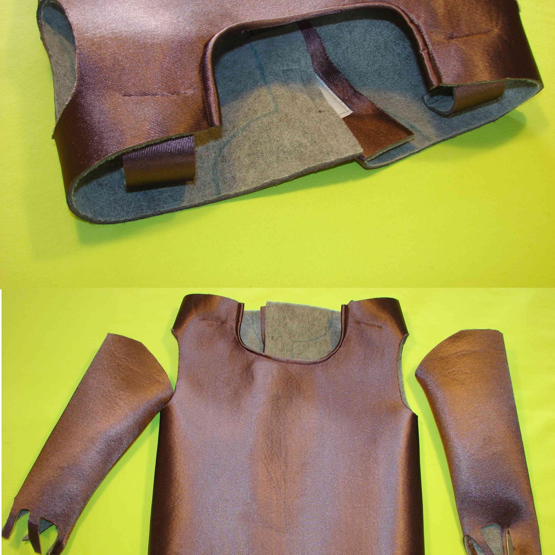 unir costuras y armar el traje