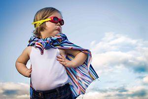 Niño super héroe