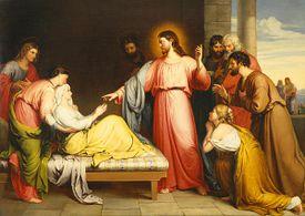 Jesús sana a la madre de Pedro por John Bridges