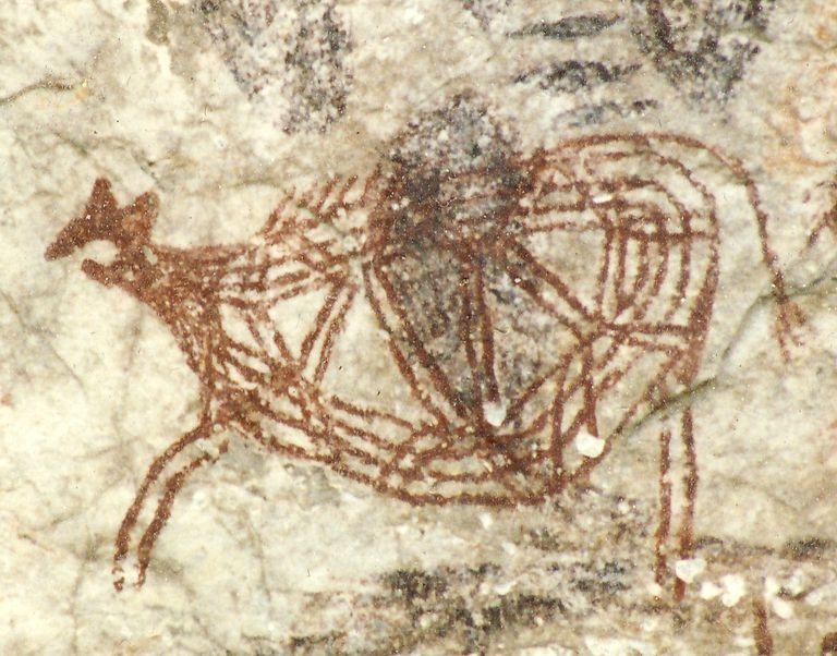 Arte neolitico, pintura rupestre esquematizada