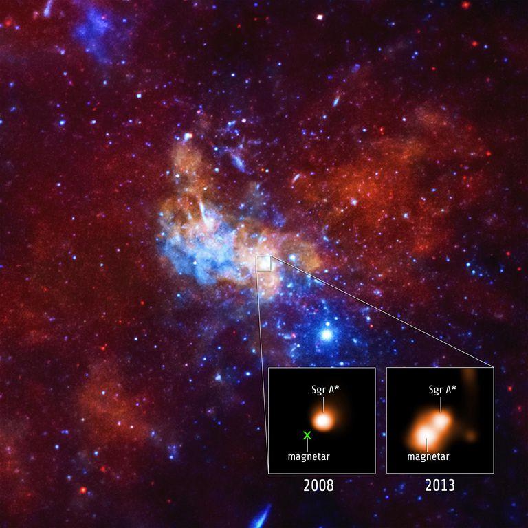 Magnetar cerca de agujero negro