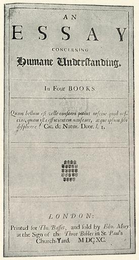 "John Locke—Portada de ""Ensayo del entendimiento humano"""