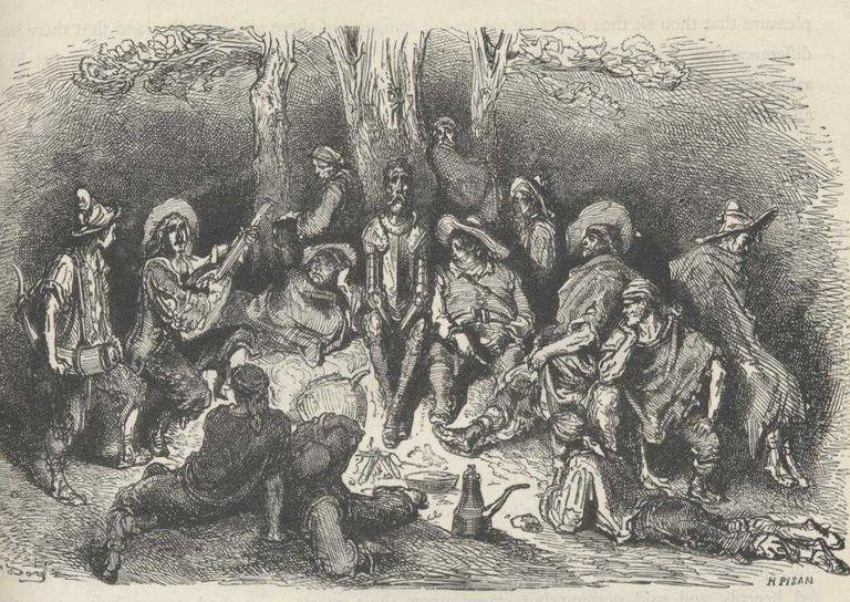 Don Quijote con unos cabreros